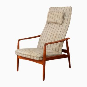 Vintage High Back Armchair by Alf Svensson for Dux