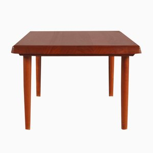 Solid Teak Square Danish Coffee Table from Niels Bach, 1950s