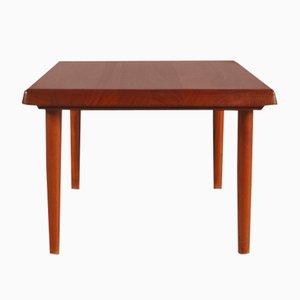 Table Basse Carrée en Teck Massif de Niels Bach, Danemark, 1950s