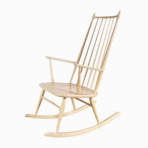 White Wooden Rocking Chair from Nesto, 1950s