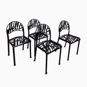 Schwarze Vintage Hello There Stühle von Jeremy Harvey für Artifort, 4er Set