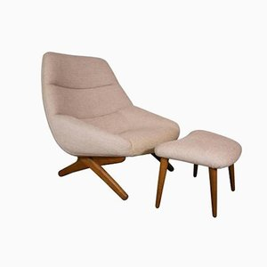 Lounge Chairs and Ottomans by Illum Wikkelso for Mikael Laursen, 1960s, Set of 4