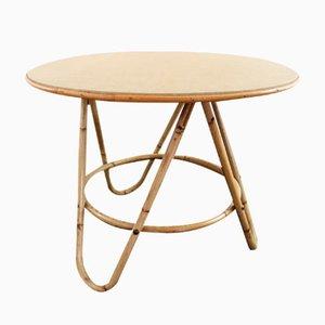 Vintage Round Rattan Coffee Table
