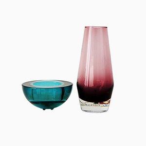 Riihimäen Vasen in Grün und Rosa, 2er Set