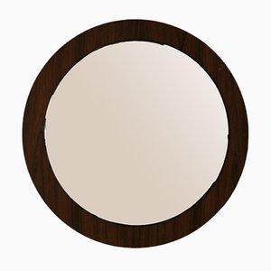 Vintage Round Rosewood Mirror