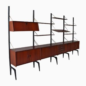 Vintage Large Wall Unit by Louis van Teeffelen for Wébé, 1958