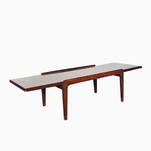 Table Basse Mid-Century avec Plateau en Verre, Italie, 1950s