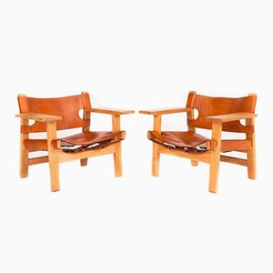 Spanish Lounge Chairs by Børge Mogensen for Fredericia Stolefabrik, Set of 2