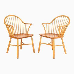 Windsor Stühle von Palle Suenson für Fritz Hansen, 2er Set