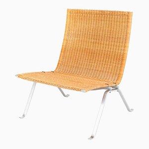 PK22 Sessel aus Schilfrohr von Poul Kjaerholm für E. Kold Christensen