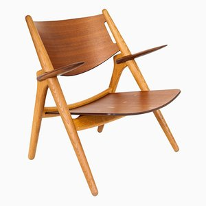 Vintage Model CH28 Lounge Chair by Hans J. Wegner