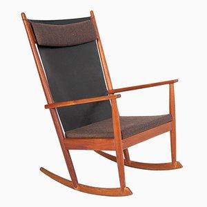 Rocking Chair Vintage en Teck par Hans Olsen