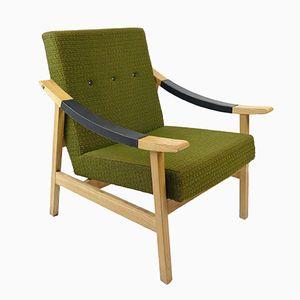 Grüner Mid-Century Sessel, 1960er