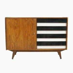 mid century kommode in schwarz wei von jiri jiroutek f r interier praha bei pamono kaufen. Black Bedroom Furniture Sets. Home Design Ideas