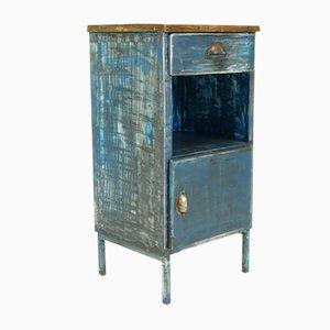 Vintage Industrial Metal Factory Cabinet
