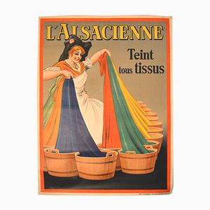 Belgian Art Deco Lalsacienne Poster by Albert Dorfinant for J.E. Goossens, 1926