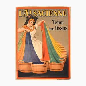 Belgisches Art Deco Lalsacienne Poster von Albert Dorfinant für J.E. Goossens, 1926