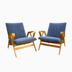 Mid-Century Czech Armchairs from Tatra, 1960s, Set of 2