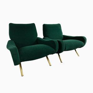Mid-Century Damen Sessel von Marco Zanuso für Arflex, 2er Set