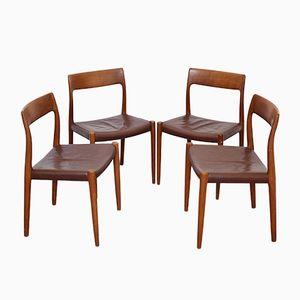 Modell 77 Stühle von Niels O. Møller für J.L. Møller, 1959, 4er Set