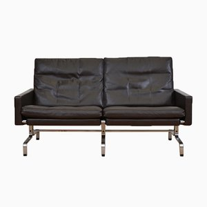 Mid-Century Two-Seater Leather Sofa by Poul Kjærholm for Fritz Hansen