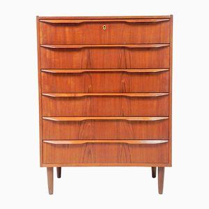 Vintage Scandinavian Teak Dresser with Six Drawers