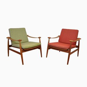Danish Spade Chairs by Finn Juhl for France & Søn, 1950s, Set of 2
