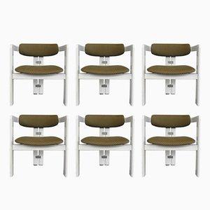 Italienische Pamplona Stühle von Augusto Savini für Pozzi, 1965, 6er Set