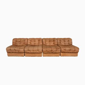 Vintage Modular Swiss DS-11 Leather Sofa from de Sede