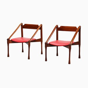 Mid-Century Italian Lounge Chairs by Giulio Moscatelli for Moscatelli, Set of 2