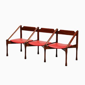 Mid-Century Italian Lounge Bench by Giulio Moscatelli for Moscatelli