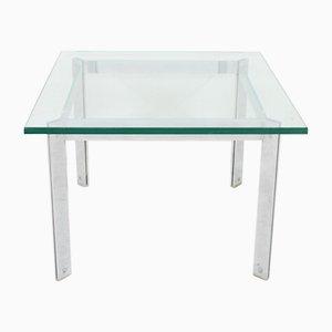 Table Basse Vintage en Verre & Chrome