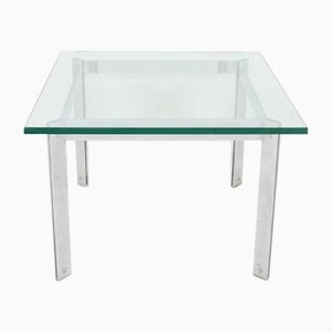 Vintage Glass & Chrome Coffee Table