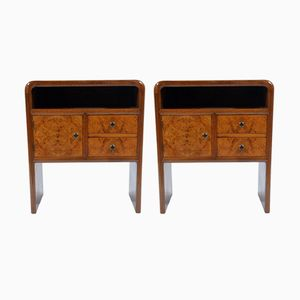 Art Deco Italian Night Stands, 1930s, Set of 2