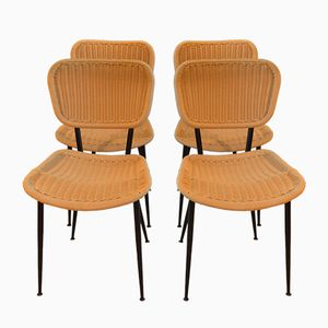 Chairs by Dirk Rol & Jeannine Abraham for Rougier, 1950s, Set of 4