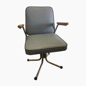 Blue-Grey Skai Office Chair, 1960s
