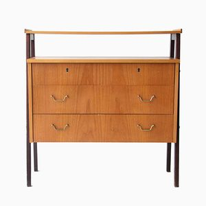 Danish Commode with Top Shelf, 1960s