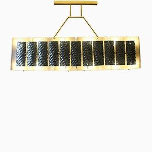 Rechteckige Deckenlampe, 1970er