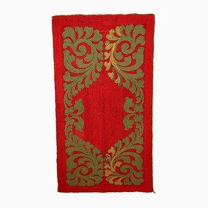 Roter Handgeknüpfter Amerikanischer Vintage Teppich, 1920er
