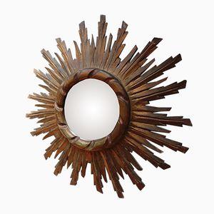 Vintage Gilt Wood Sunburst Mirror, 1920s