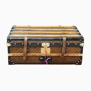 Damier Cabin Trunk with Key from Les Malles Du Louvre, 1900s
