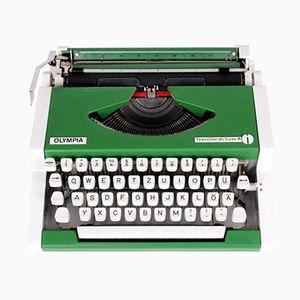 Machine à Écrire de Voyage Verte par Alfons Boothby & Georges Joseph pour Olympia, 1960s