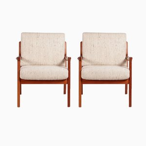 Teak Senator Club Chairs by Ole Wanscher for Cado, 1960s, Set of 2