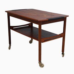 Table Basse Vintage à Roulettes en Palissandre, 1950s