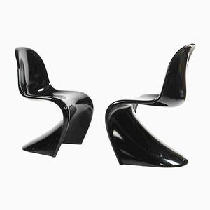 Polyurethan Stühle in Schwarz von Verner Panton für WK Möbel, 1986, 2er Set