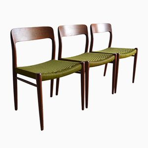 Chaises de Salon par Niels Otto Møller pour J. L. Møllers, 1960s, Set de 3