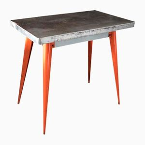 Vintage Model 55 Industrial Table by Jean Pauchard for Tolix