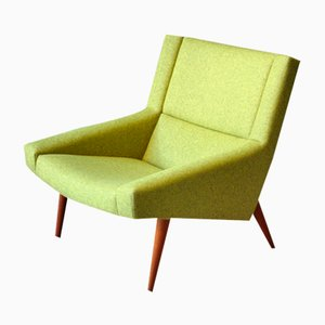 Mid-Century Green Danish Model 50 Lounge Chair by Illum Wikkelso for Soeren Willadsen