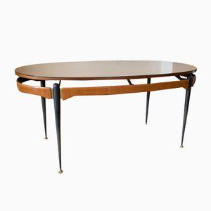 Italienischer Esstisch mit Tischplatte in Sonnen Optik, 1950er