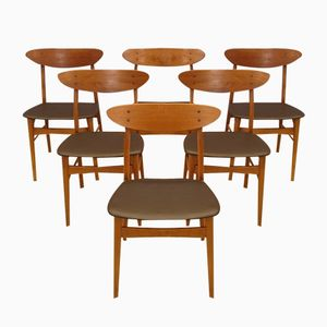 Vintage Model 210 Scandinavian Chairs from Farstrup, Set of 6
